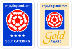 Visit England 4 Star Gold Award